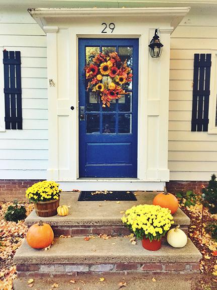 fall bucket list front door
