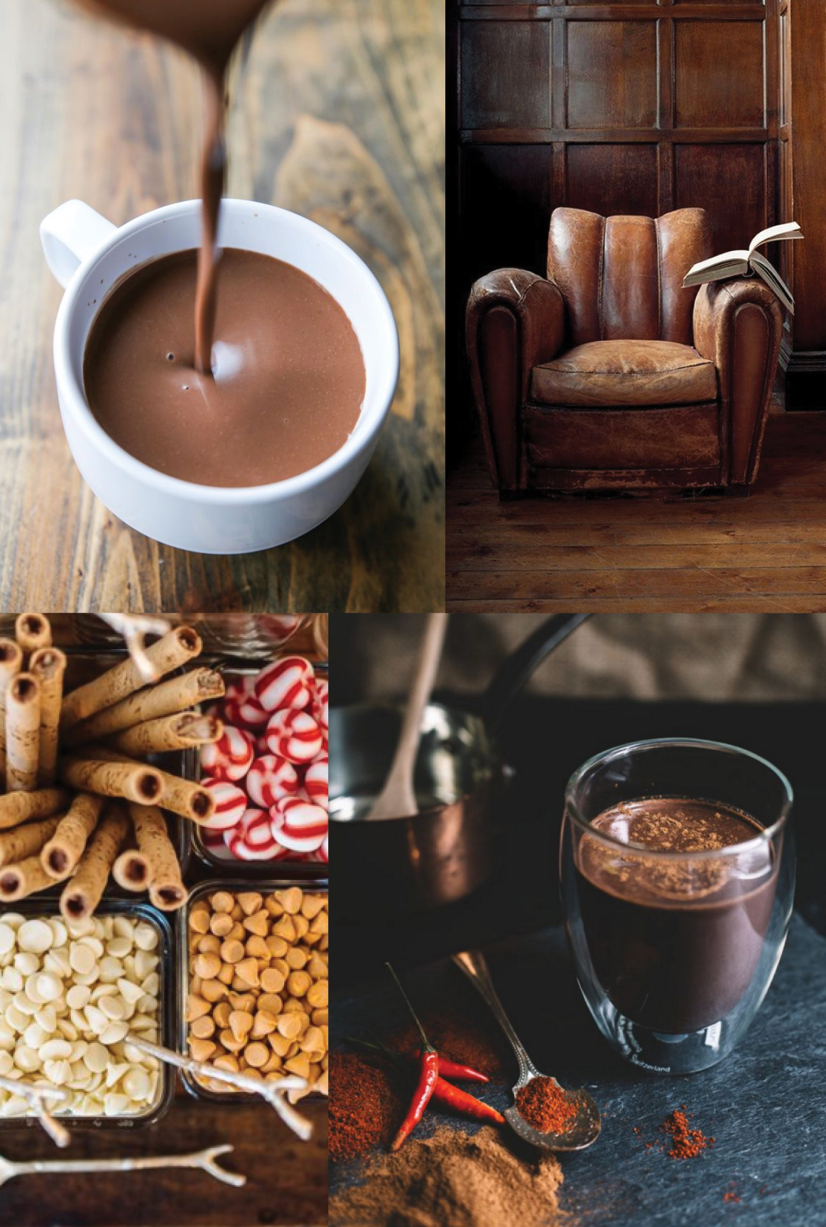 Christmas In July Giveaway >> Moodboard :: Hot Chocolate - Elements